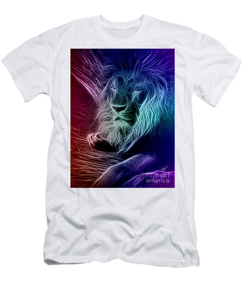 Fractalius Lion Men's T-Shirt (Athletic Fit)