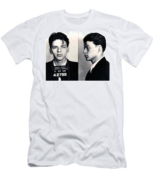 Frank Sinatra Mug Shot Horizontal Men's T-Shirt (Athletic Fit)