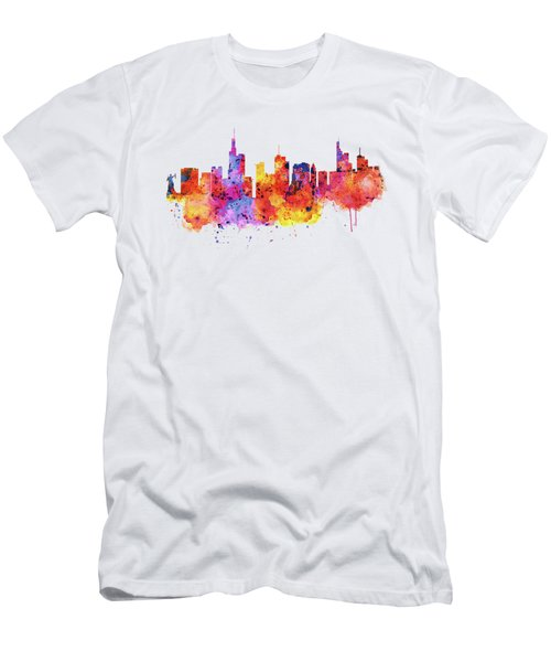 Frankfurt Skyline Men's T-Shirt (Athletic Fit)