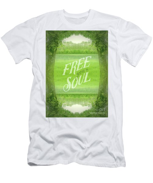 Free Your Soul Grand Canal Forest Fontainebleau Chateau Men's T-Shirt (Athletic Fit)