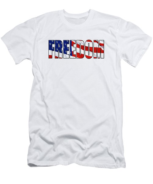 Freedom Men's T-Shirt (Slim Fit) by Phyllis Denton