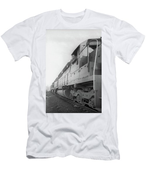 Men's T-Shirt (Athletic Fit) featuring the photograph Freight Train Parked On Siding. by Frank DiMarco