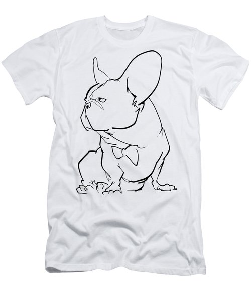 French Bulldog Gesture Sketch Men's T-Shirt (Athletic Fit)