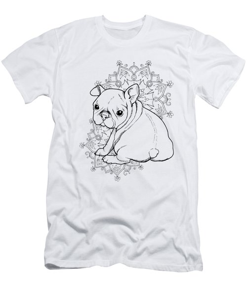 French Bulldog Puppy Men's T-Shirt (Athletic Fit)