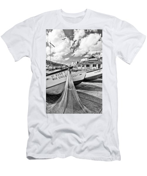 Frenchtown Fishing Boats 1 Men's T-Shirt (Athletic Fit)
