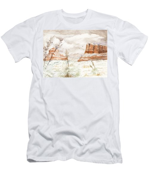 Fresh Snow On Bell Rock Men's T-Shirt (Athletic Fit)