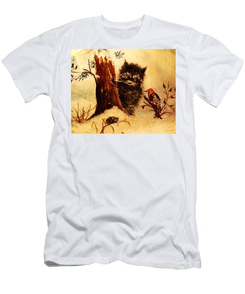 Men's T-Shirt (Slim Fit) featuring the painting Friends Forever by Hazel Holland