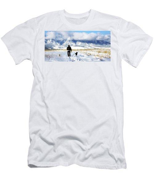 Friends On A Walk Men's T-Shirt (Athletic Fit)