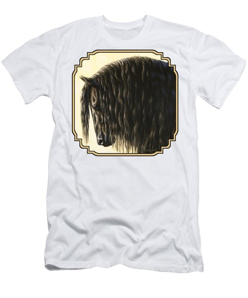 Friesian Horse Phone Case Men's T-Shirt (Athletic Fit)