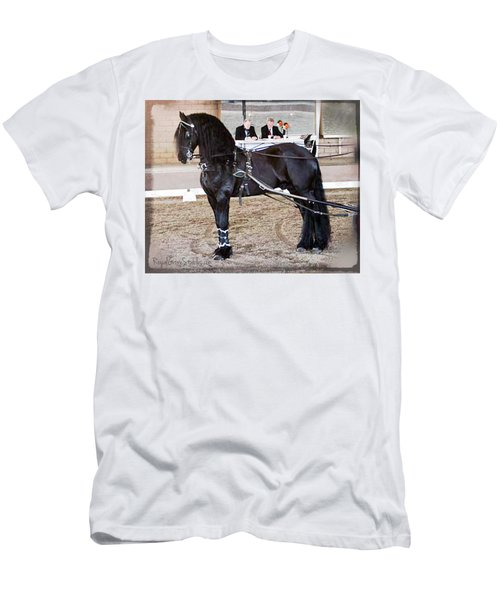 Friesian Stallion Under Harness Men's T-Shirt (Athletic Fit)