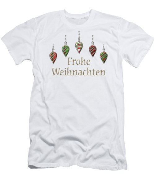 Frohe Weihnachten German Merry Christmas Men's T-Shirt (Slim Fit) by Movie Poster Prints