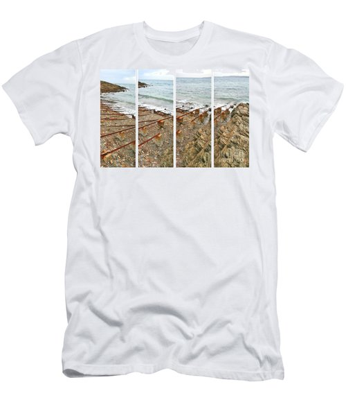 Men's T-Shirt (Athletic Fit) featuring the photograph From Ship To Shore by Stephen Mitchell