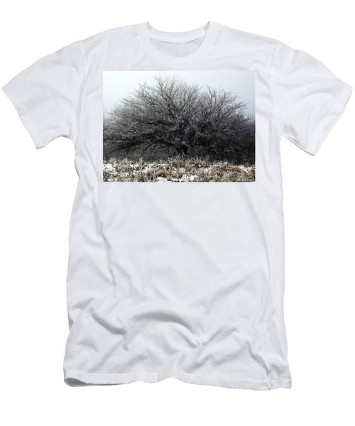 Men's T-Shirt (Athletic Fit) featuring the photograph Frosted Elm by Shelli Fitzpatrick