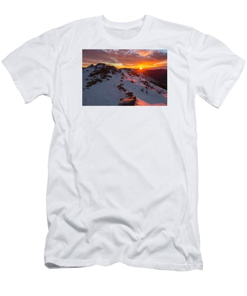 Frosty Alpine Sunset Men's T-Shirt (Athletic Fit)