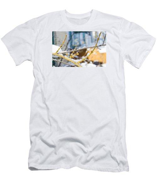 Frosty Branches Men's T-Shirt (Slim Fit) by Deborah Smolinske
