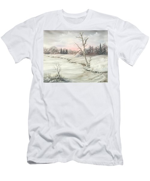 Frosty Winter Morning  Men's T-Shirt (Athletic Fit)