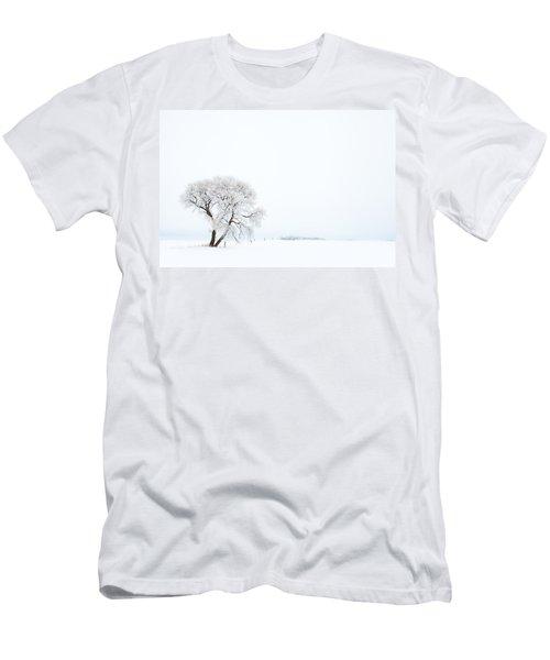 Men's T-Shirt (Slim Fit) featuring the photograph Frozen Morning by Yvette Van Teeffelen