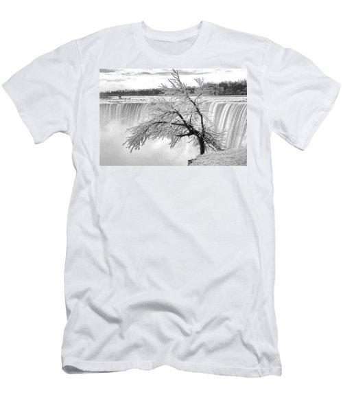 Frozen Tree Near Niagara Falls Men's T-Shirt (Slim Fit) by Alex Galkin
