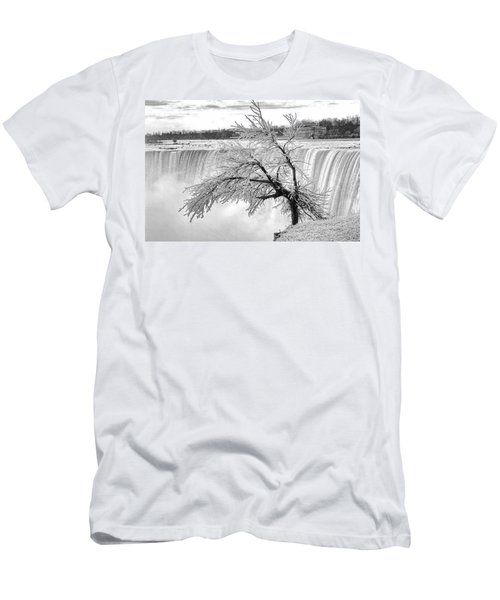 Frozen Tree Near Niagara Falls Men's T-Shirt (Athletic Fit)