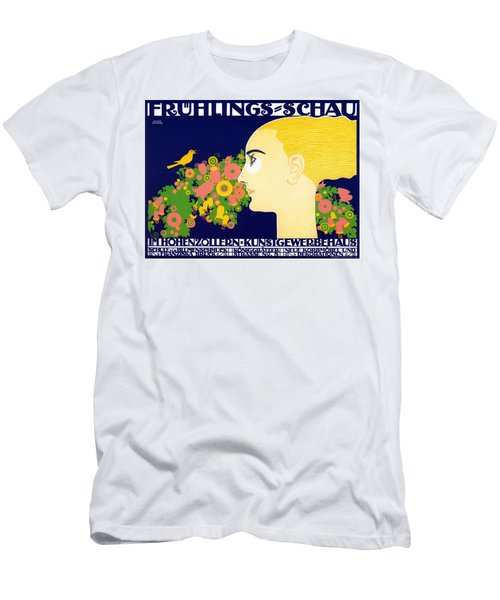 Fruhlings Schau - Spring Show - Arts And Crafts Fair - Vintage German Exposition Poster Men's T-Shirt (Athletic Fit)