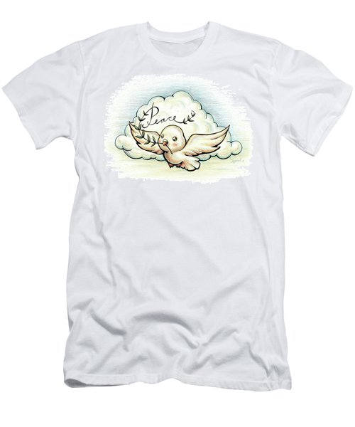Inspirational Animal Dove Men's T-Shirt (Athletic Fit)