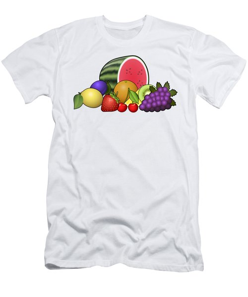 Fruits Heap Men's T-Shirt (Slim Fit) by Miroslav Nemecek