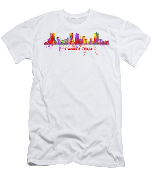 Ft Worth Tx Skyline Tshirts And Accessories Art Men's T-Shirt (Athletic Fit)