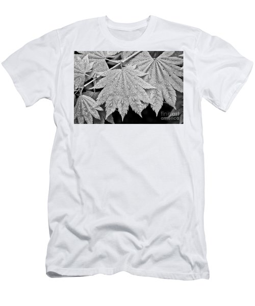 Full Moon Maple Leaf After A Spring Rain Men's T-Shirt (Athletic Fit)