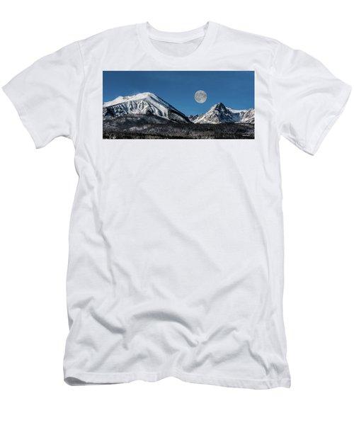 Full Moon Over Silverthorne Mountain Men's T-Shirt (Athletic Fit)