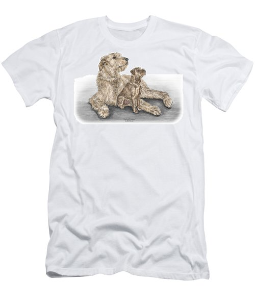 Full Of Promise - Irish Wolfhound Dog Print Color Tinted Men's T-Shirt (Athletic Fit)