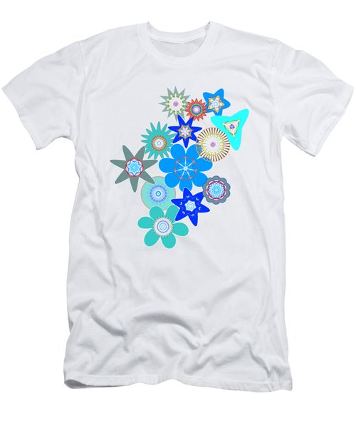 Funky Flower Pattern Men's T-Shirt (Slim Fit) by Methune Hively