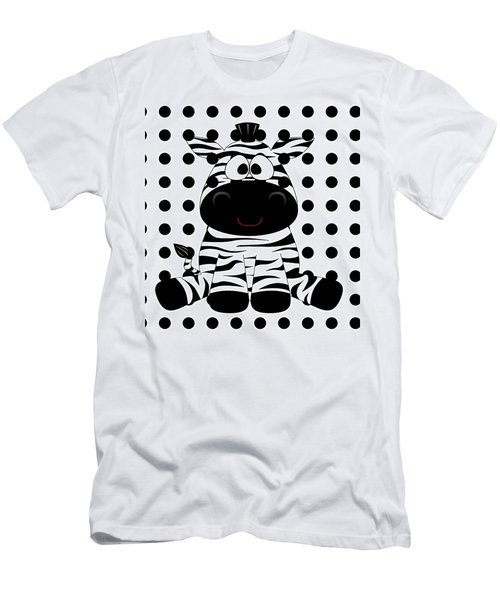 Funny Zebra Men's T-Shirt (Athletic Fit)