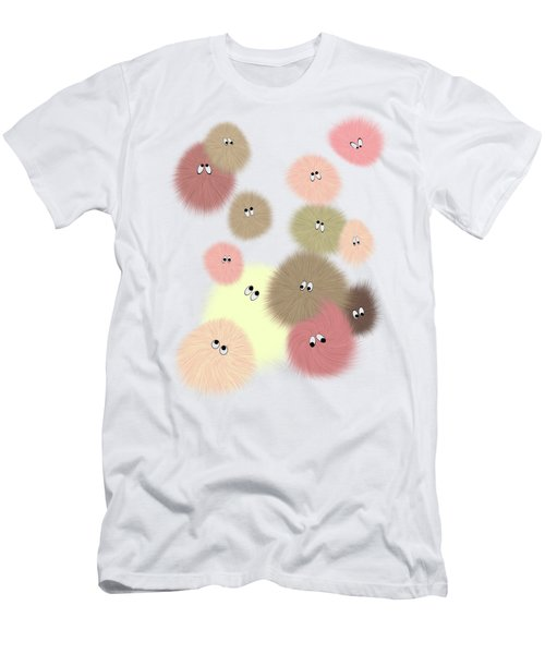 Men's T-Shirt (Slim Fit) featuring the digital art Fuzz Balls by Methune Hively