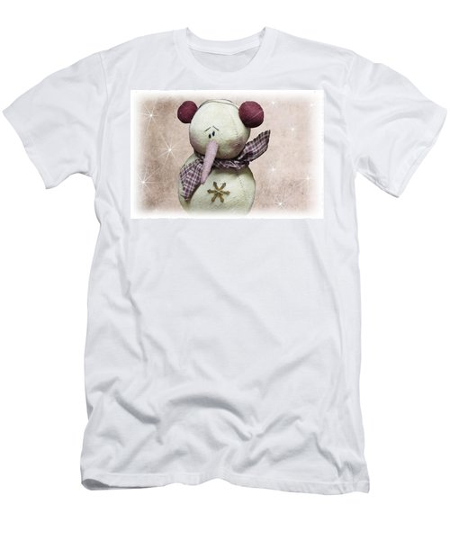 Fuzzy The Snowman Men's T-Shirt (Athletic Fit)