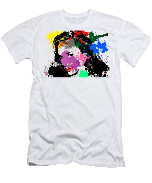 Gal Gadot Pop Art Men's T-Shirt (Athletic Fit)