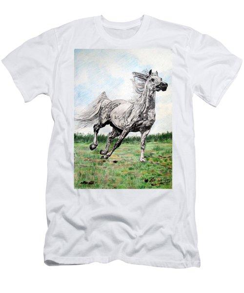 Galloping Arab Horse Men's T-Shirt (Athletic Fit)