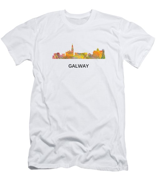 Galway Ireland Skyline Men's T-Shirt (Athletic Fit)