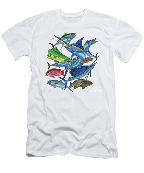 Gamefish Collage Men's T-Shirt (Athletic Fit)