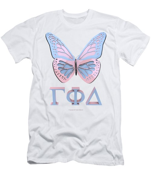 Gamma Butterfly Wings 3d Men's T-Shirt (Athletic Fit)