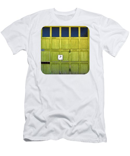 Men's T-Shirt (Slim Fit) featuring the photograph Garage Door by Ethna Gillespie