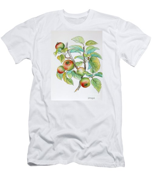 Men's T-Shirt (Slim Fit) featuring the painting Garden Apples Sketch by Inese Poga