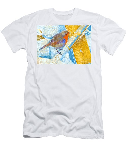 Men's T-Shirt (Athletic Fit) featuring the photograph Garden Robin by LemonArt Photography