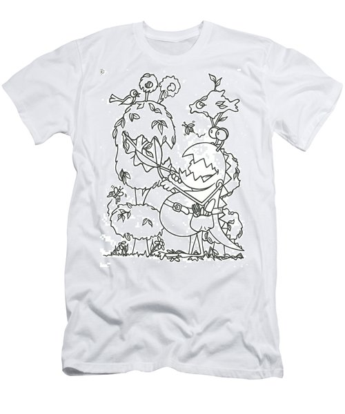 Gardening Monster Men's T-Shirt (Athletic Fit)