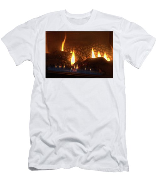Gas Stove Flame Men's T-Shirt (Athletic Fit)