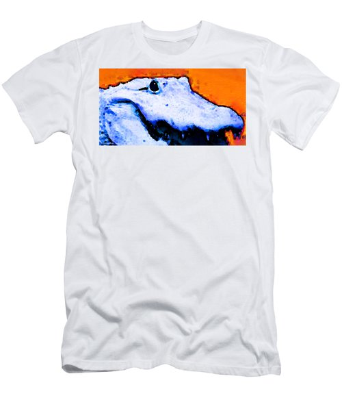 Gator Art - Swampy Men's T-Shirt (Athletic Fit)