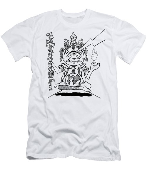 Gautama Buddha Black And White Men's T-Shirt (Athletic Fit)