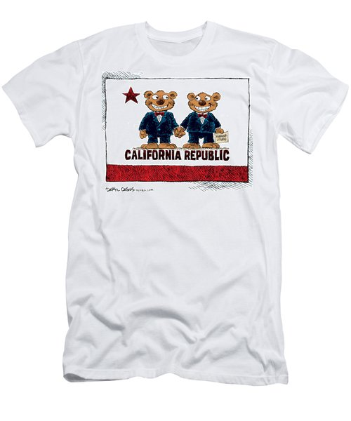 Gay Marriage In California Men's T-Shirt (Athletic Fit)