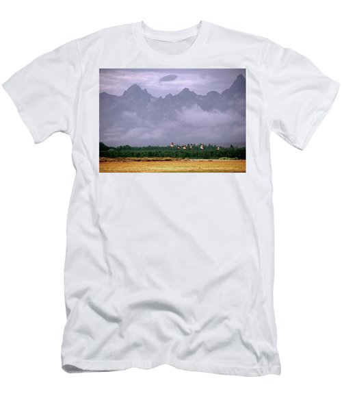Geese, Grand Tetons Men's T-Shirt (Athletic Fit)
