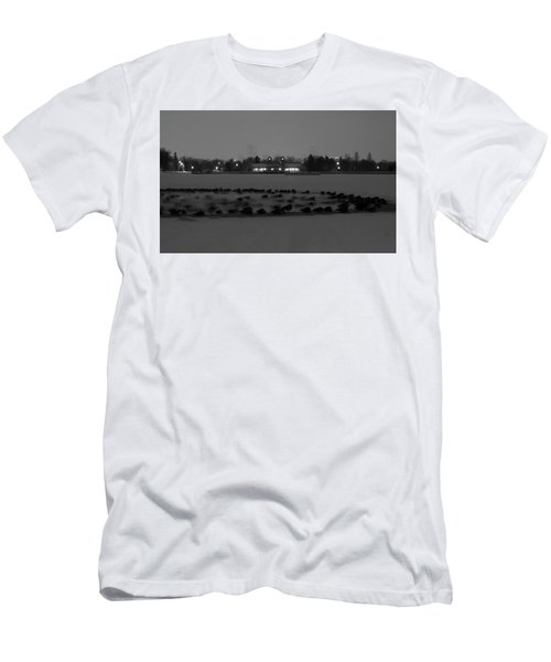Geese In Frozen Lake Men's T-Shirt (Athletic Fit)