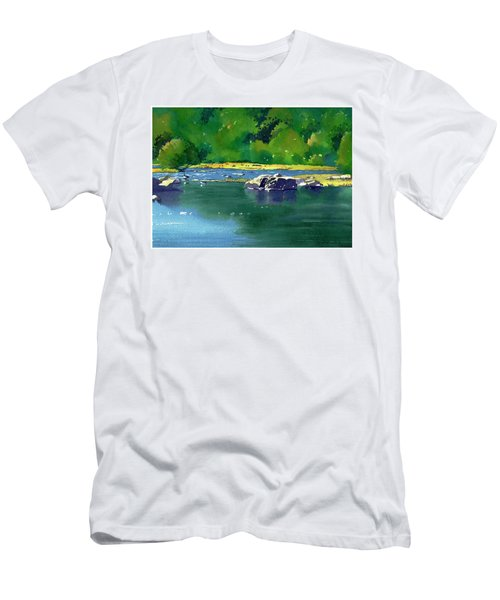 Geese On The Rappahannock Men's T-Shirt (Athletic Fit)